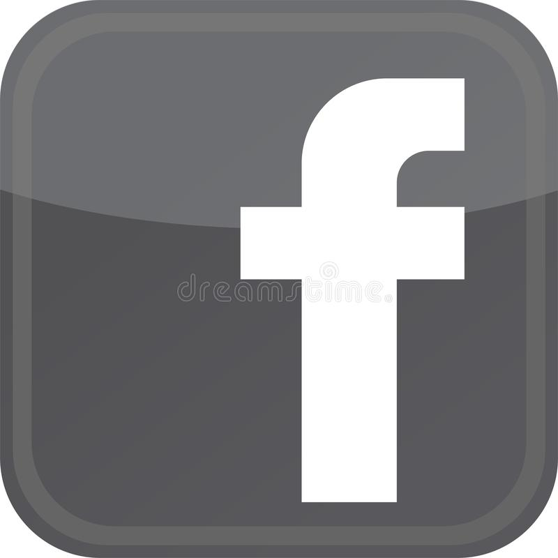 Dark facebook icon. Facebook Messenger is a messaging app and platform. Originally developed as Facebook Chat in 2008, the company revamped its messaging service stock illustration
