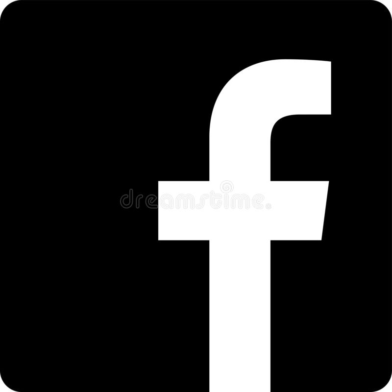 Dark facebook icon. Facebook Messenger is a messaging app and platform. Originally developed as Facebook Chat in 2008, the company revamped its messaging service royalty free illustration
