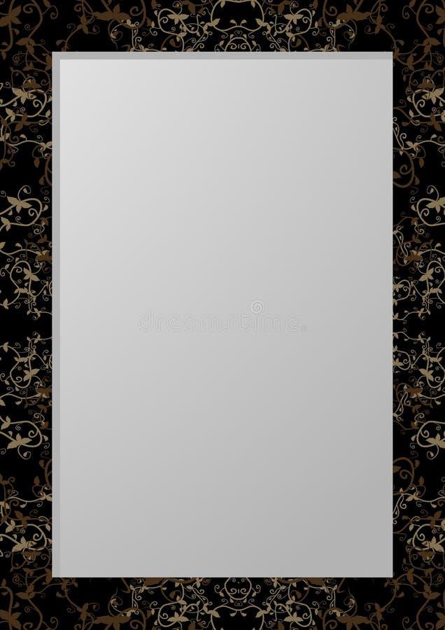 Download Dark floral stock vector. Image of decorative, frame - 20873871
