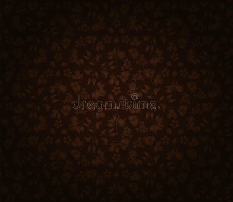 Dark floral wallpaper royalty free illustration