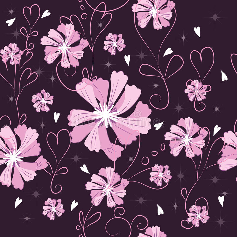 Download Dark flowers stock vector. Image of bright, blossom, meadow - 25289054
