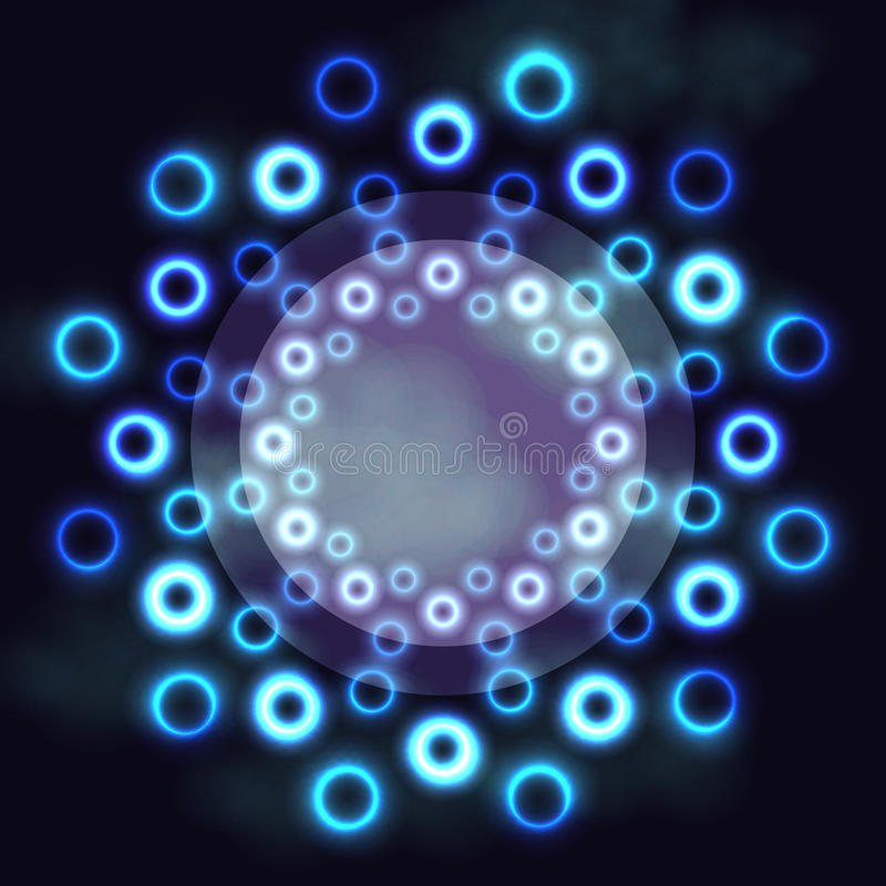 glow lines effect the magic transparent rings stock circles vector fire crossed light background on photo neon