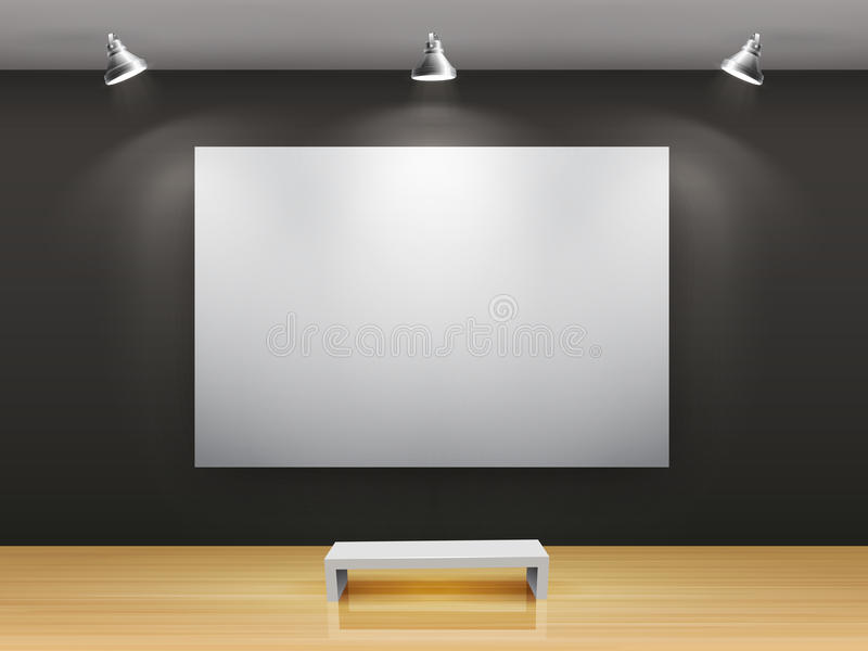 Download Dark gallery Interior stock vector. Image of creativity - 19145640