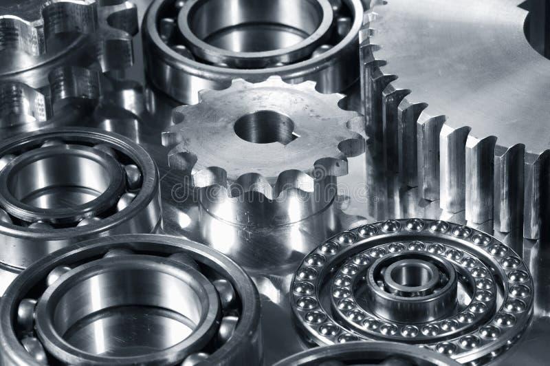 dark gears metallisk signal arkivfoton