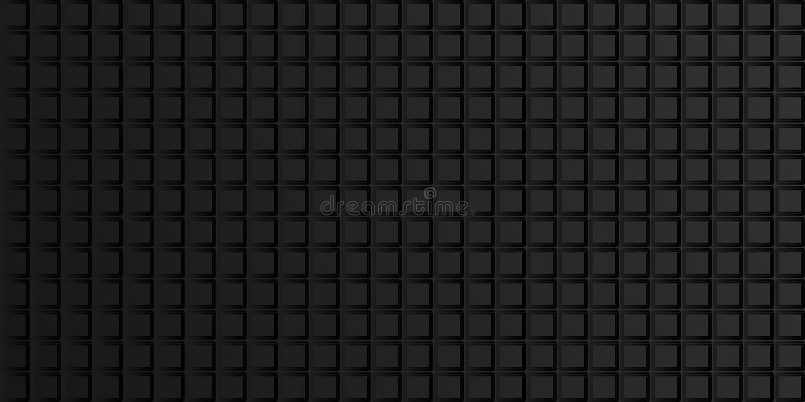 Dark geometric abstract background with squares, tile pattern. Vector. Illustration stock illustration