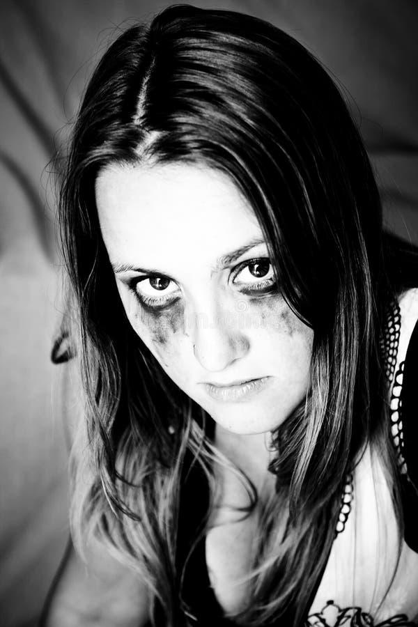 Dark girl royalty free stock images