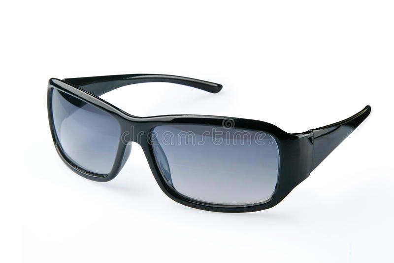 Dark glasses. Isolated on white background stock photography