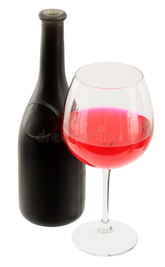 Download Dark Glasses Wine Bottle And Goblet Stock Photo - Image: 8793760