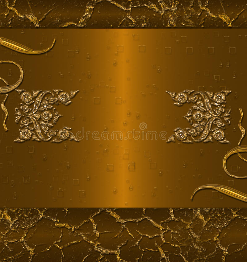 Download Dark gold banner stock illustration. Image of beauty - 10529984