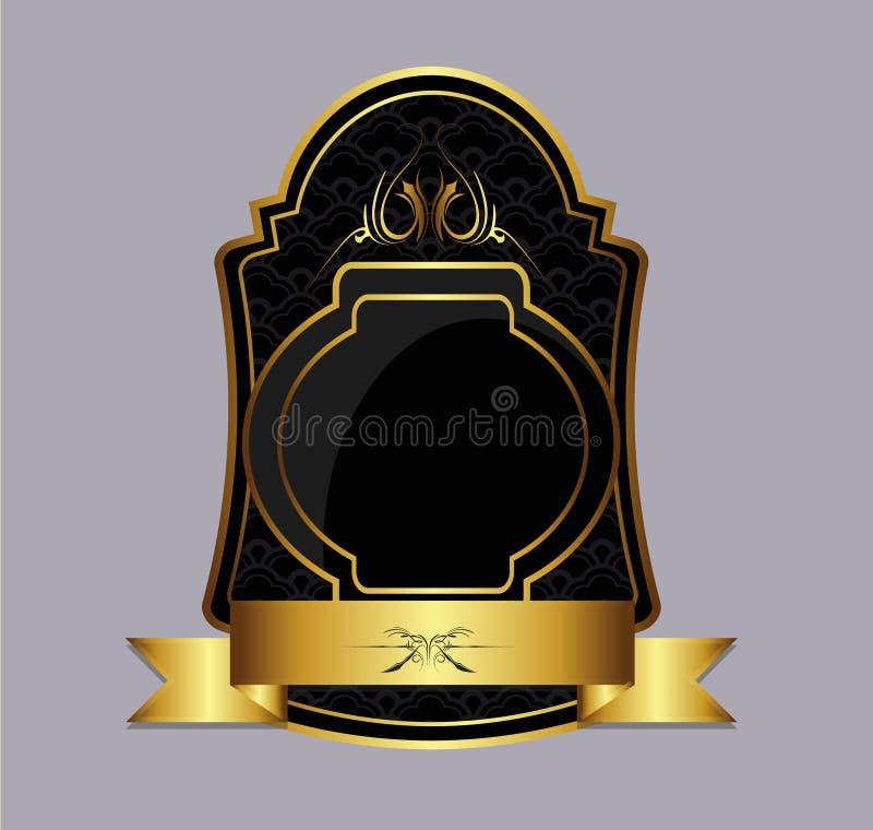 Download Dark and gold label stock vector. Image of golden, emblem - 25512697