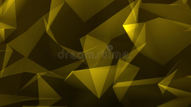 Dark gold polygon abstract background royalty free stock images