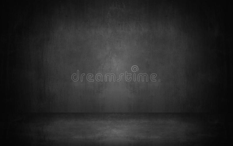 dark and gray abstract cement wall and studio room gradient bac royalty free stock image