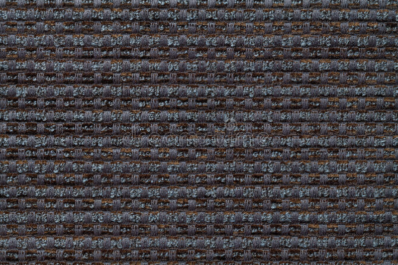 Dark gray background from checkered pattern textile, closeup. Structure of the wicker fabric macro. royalty free stock photo