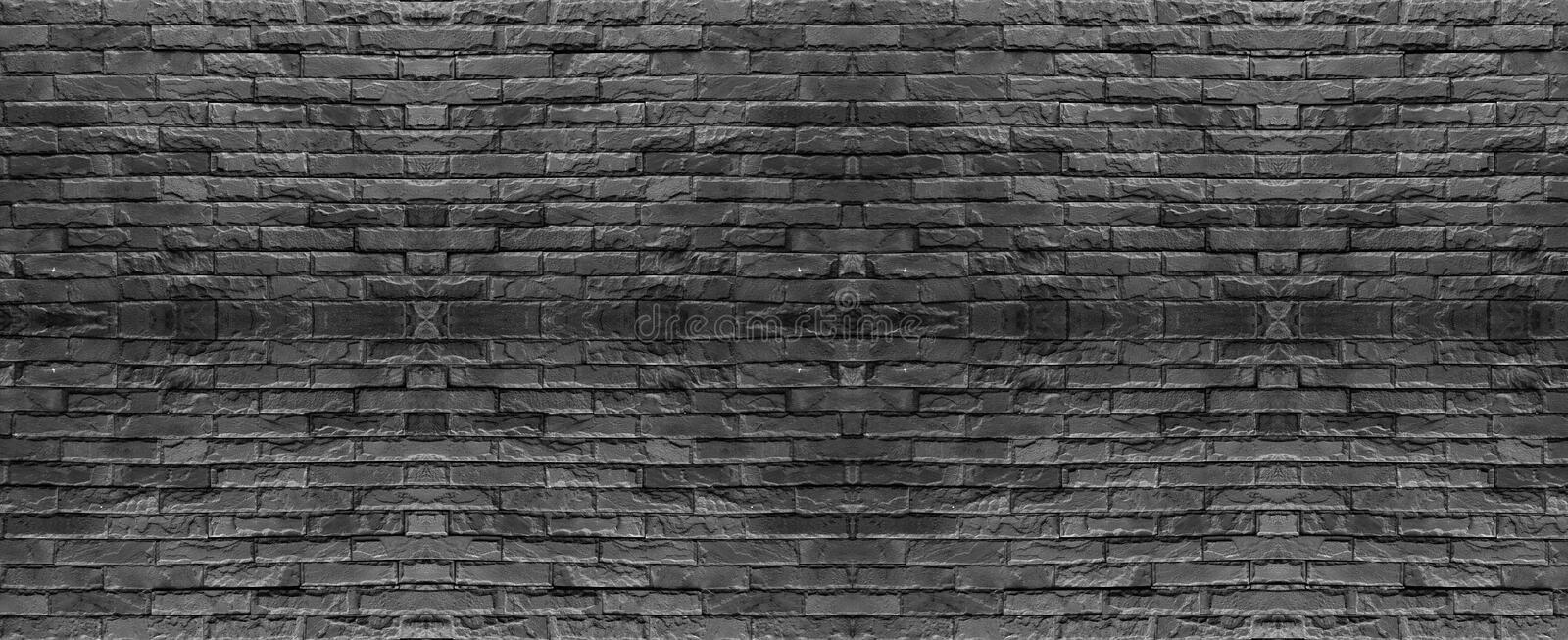 Dark Gray Brick Wall Texture Modern Style Background Industrial Architecture Details.  royalty free stock photo