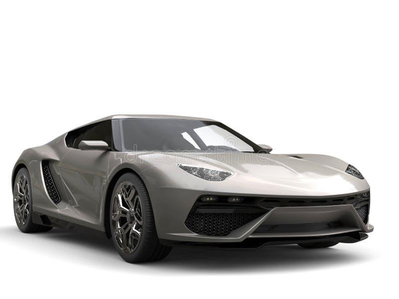 Dark gray modern sports car - beauty shot stock photo