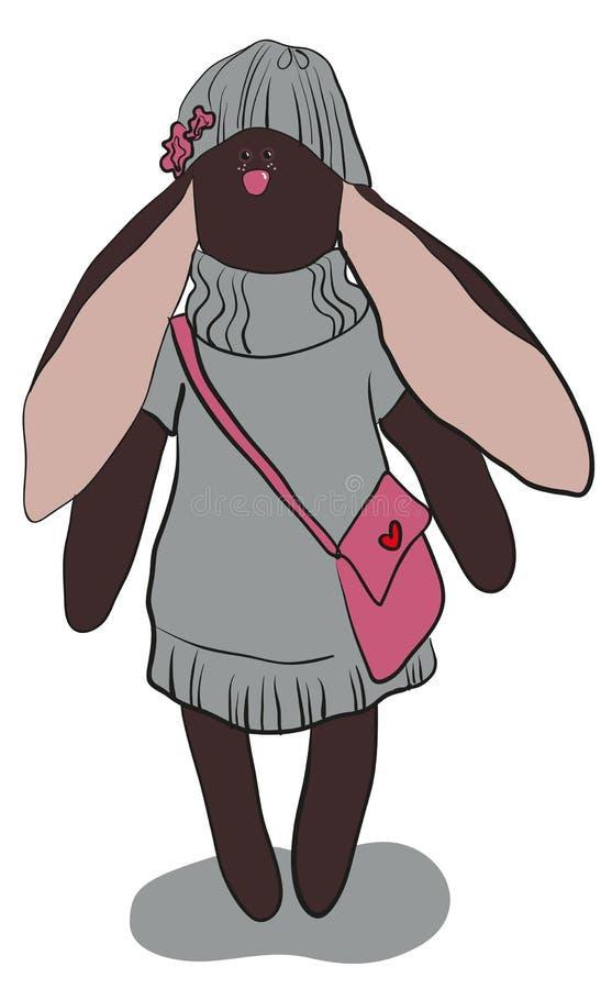 Download Dark gray rabbit stock vector. Image of black, nose, hare - 24624388
