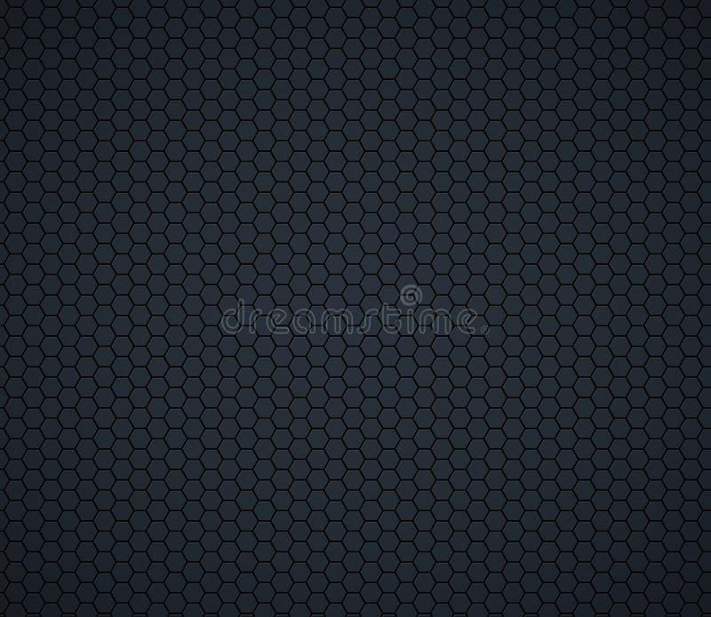 Dark gray technology hexagon honeycomb background. Vector illustration royalty free illustration