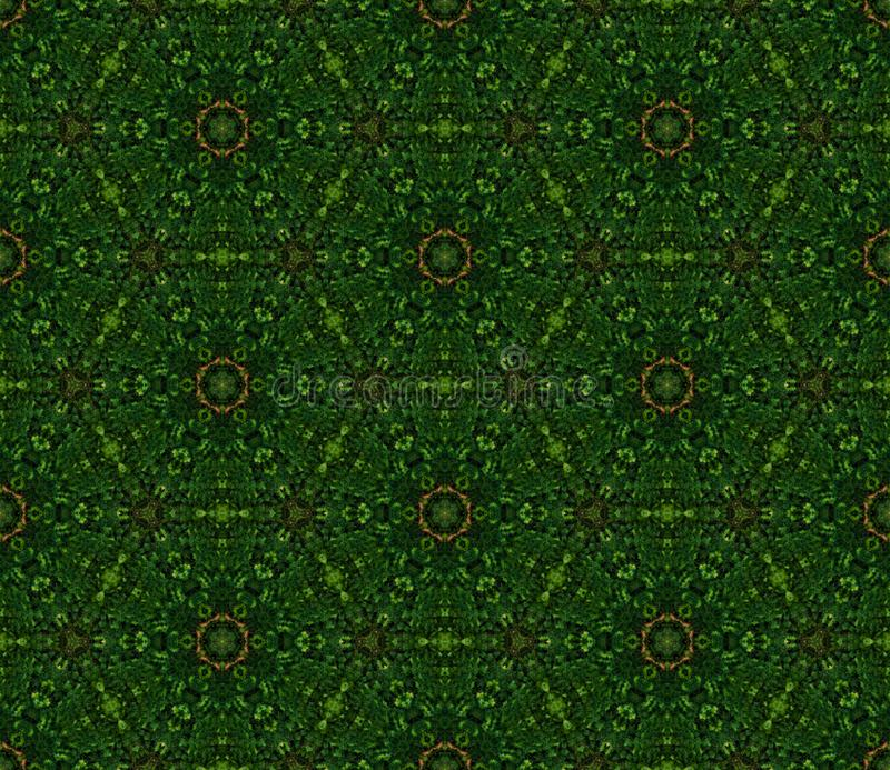 Dark green background pattern from the greenery hexagon figures. Geometric seamless design template with simple symmetric ornament. Background seamless pattern royalty free illustration