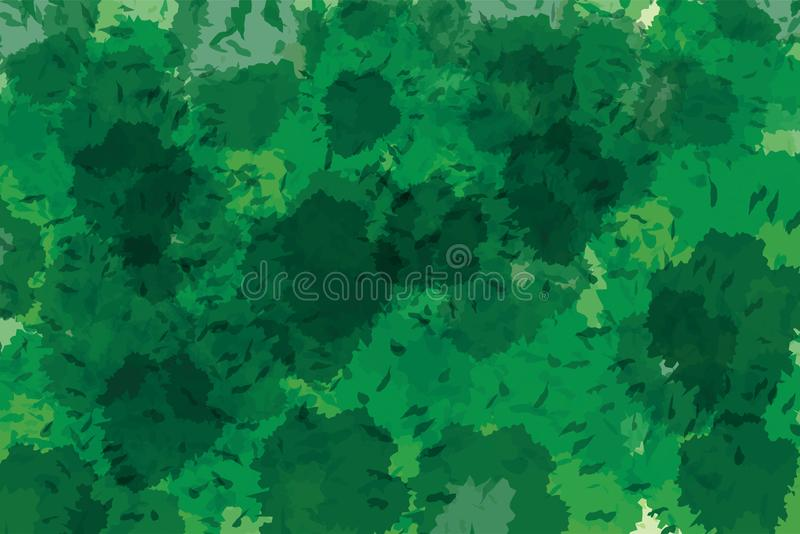 Dark green cool and modern watercolor painted abstract background vector. Illustration stock illustration