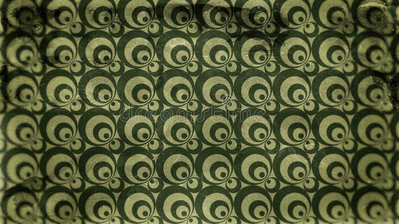 Dark Green Grunge Circle Pattern Texture Background 向量例证