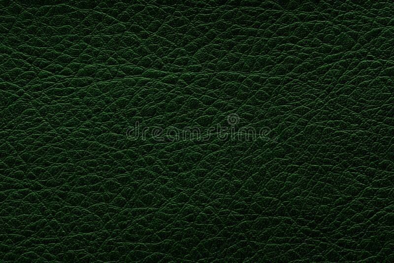 Dark green leather texture. Background and texture. royalty free stock image