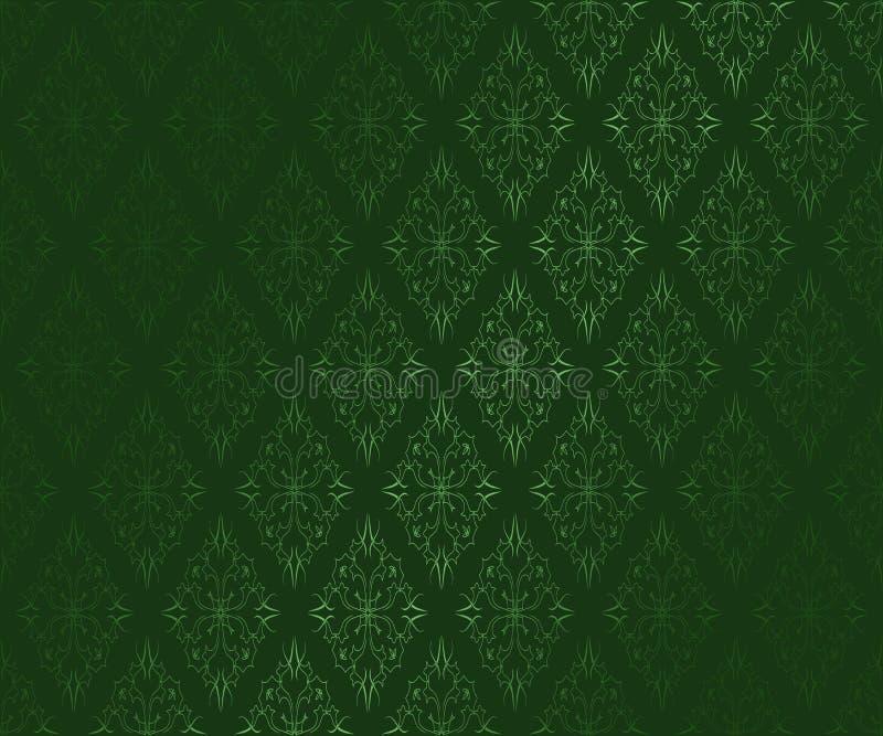 Download Dark Green Ornamental  Wallpaper Stock Photo - Image: 17990298