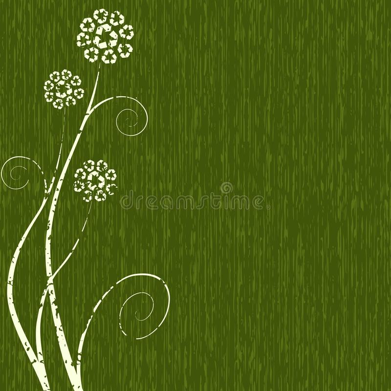 Download Dark Green Recycling-flower Concept Royalty Free Stock Photography - Image: 9599607