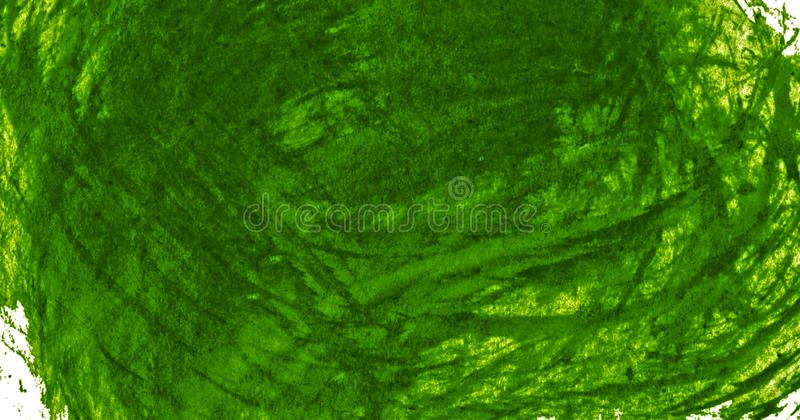 Dark green watercolor frame with torn strokes and stripes. Abstract background for design, layouts and patterns. With copy space. For text stock illustration