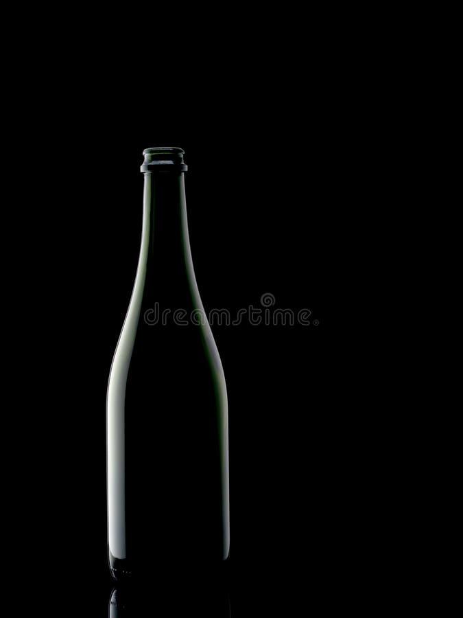 Free Dark Green Wine Bottle, On Black Background. Minimalistic. Royalty Free Stock Image - 125426876