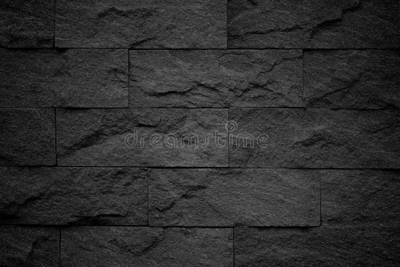 Dark grey black slate background or natural stone texture. stock photo