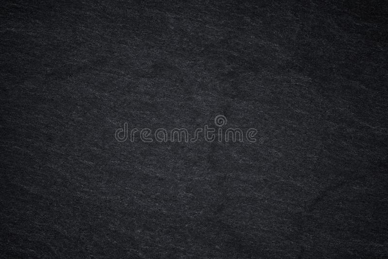 Dark grey black slate background or natural stone texture. Black stone wall vector illustration