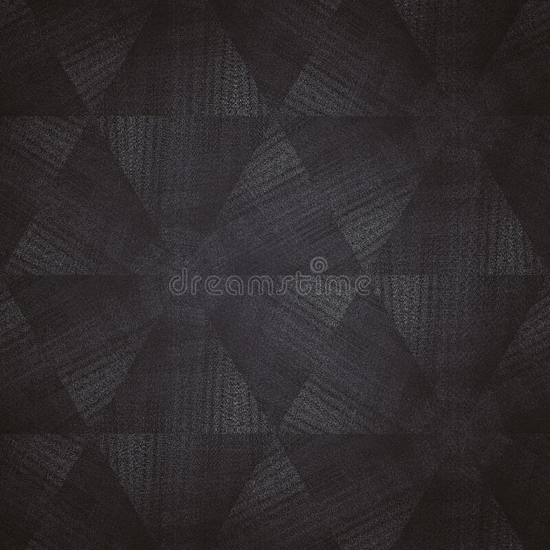 Dark grey and boack fabric texture with triangle shape in pattern vector illustration