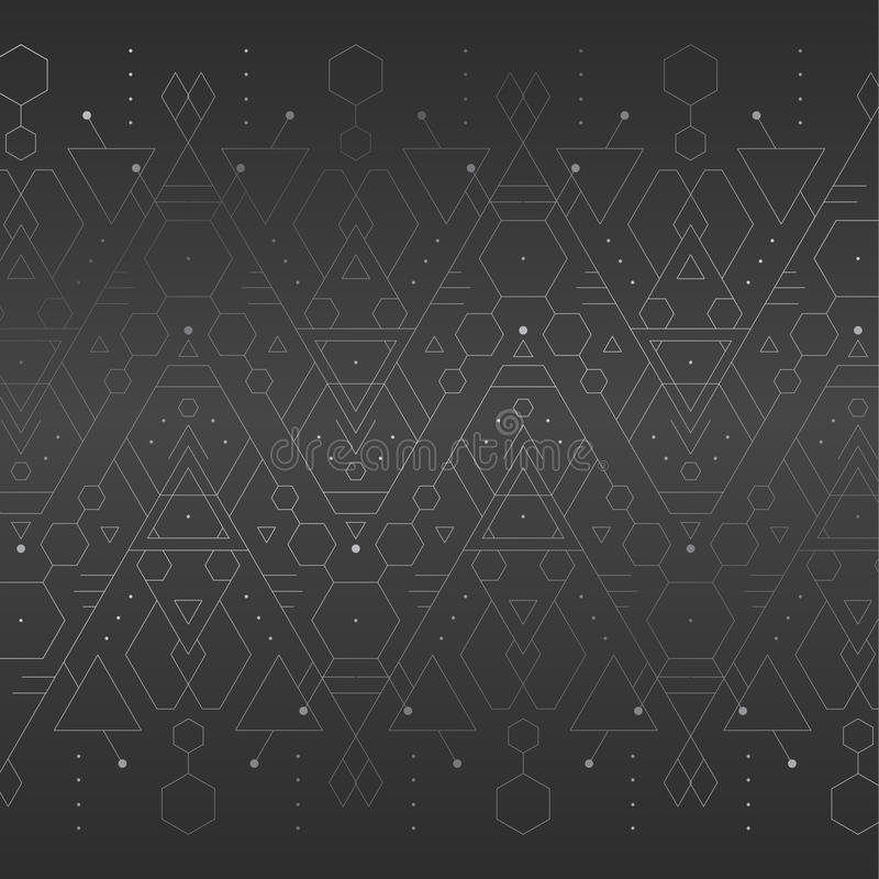 Dark grey geometric background royalty free stock images