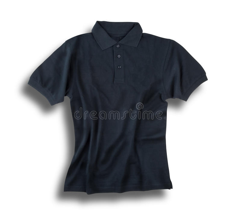 Dark grey polo shirt royalty free stock photos