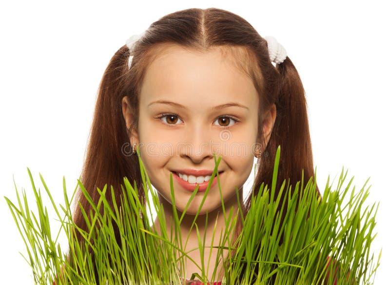 Download Dark hair girl and spring stock image. Image of fresh - 28968025
