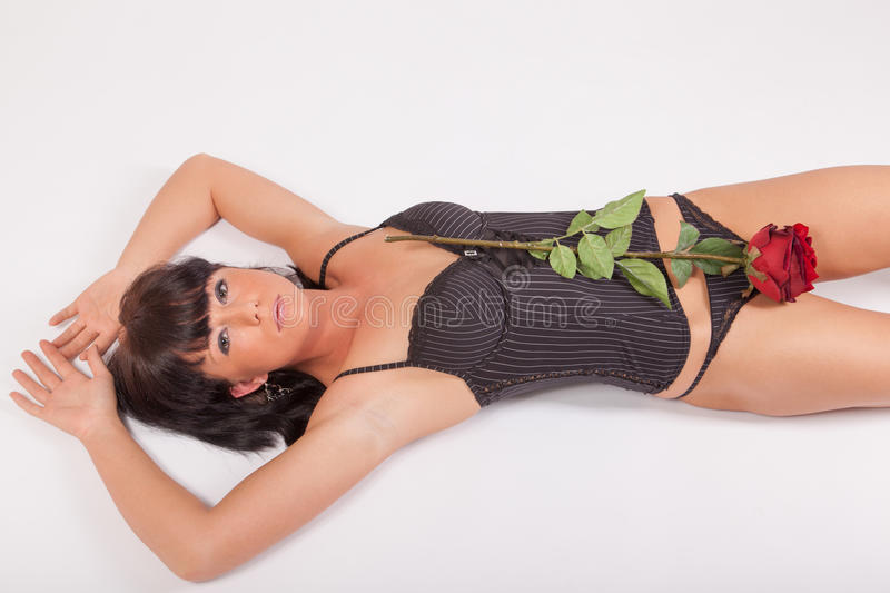 Download The dark-haired beauty stock image. Image of lingerie - 25739603
