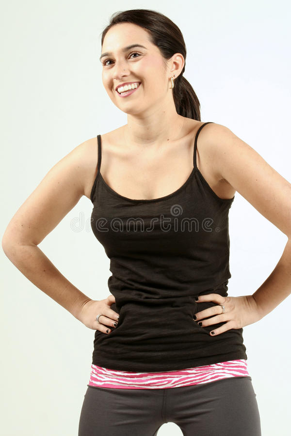 Free Dark Haired Fitness Girl Stock Photography - 17802242