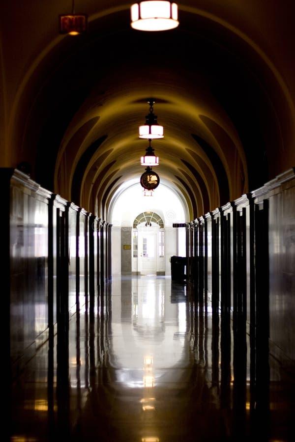 Dark hallway royalty free stock photography