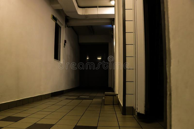 Download Dark Hallway Creepy Stock Image Of Abstract Background
