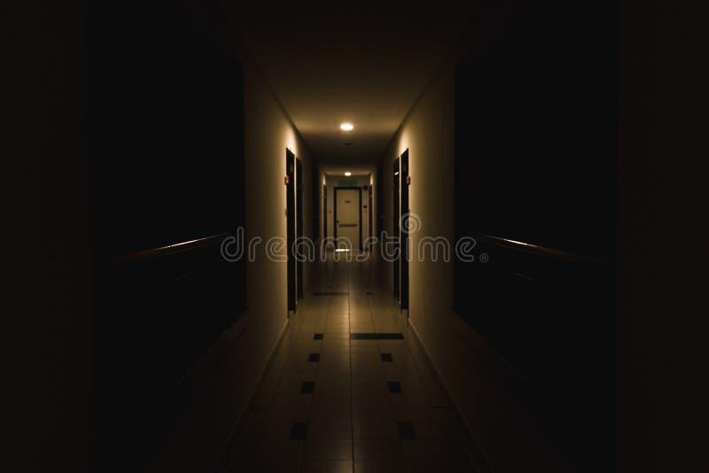 Dark hallways royalty free stock image