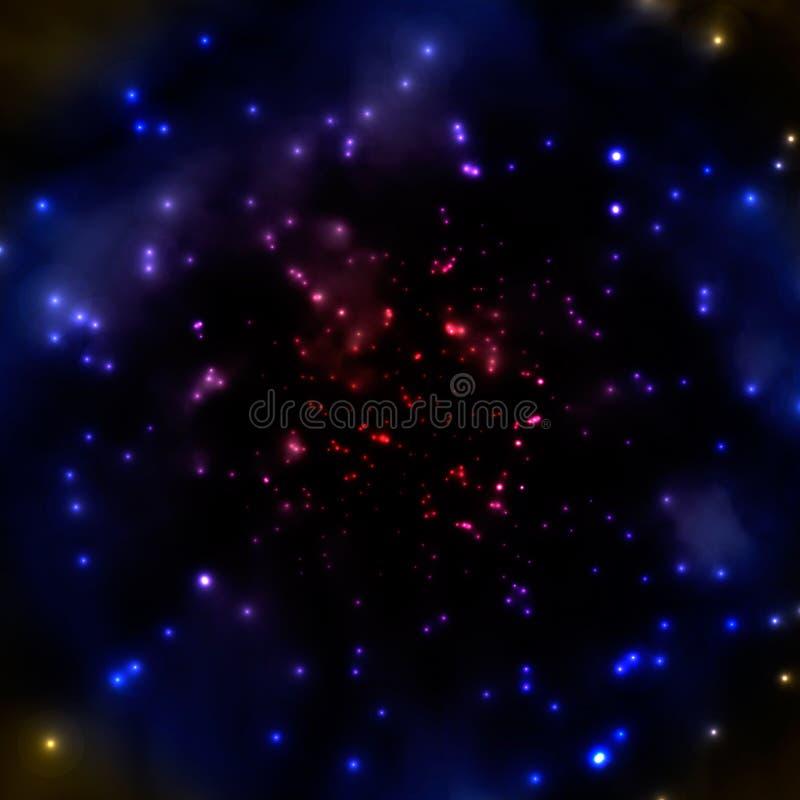 Dark hazy universe. With stars, vector background design stock illustration