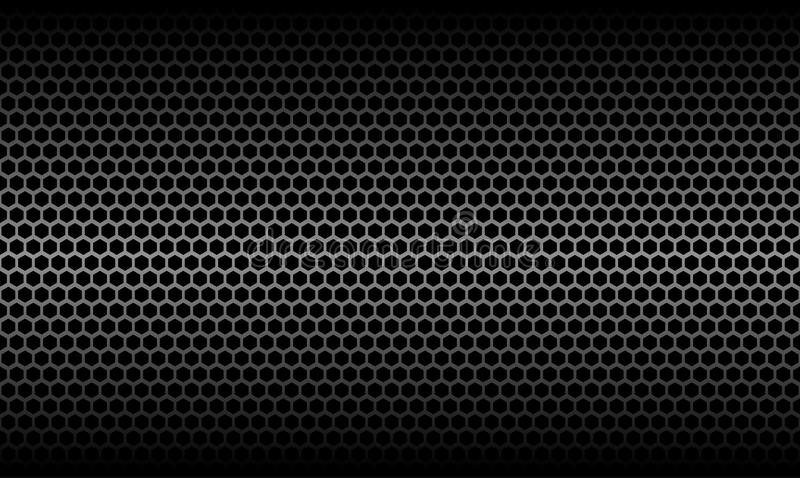 Dark Honeycomb Metallic Carbon Texture Background. Dark Honeycomb Metallic Carbon Texture Vector Graphic Background Design royalty free illustration