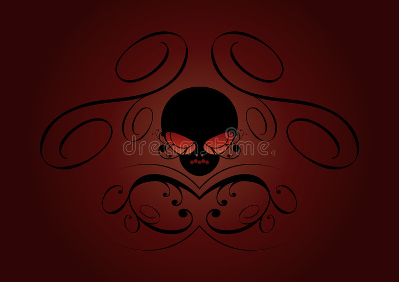 Download Dark horrific background stock vector. Image of abstract - 5892777