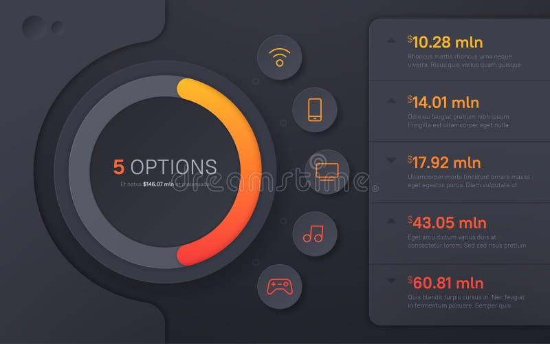 Dark Hued Presentation Infographic Template In A Modern