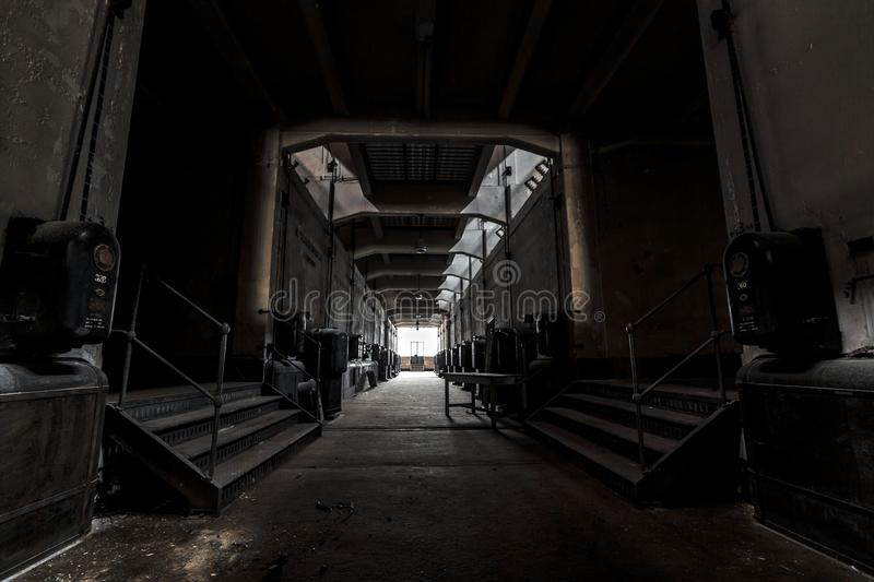 Dark industrial interior royalty free stock images