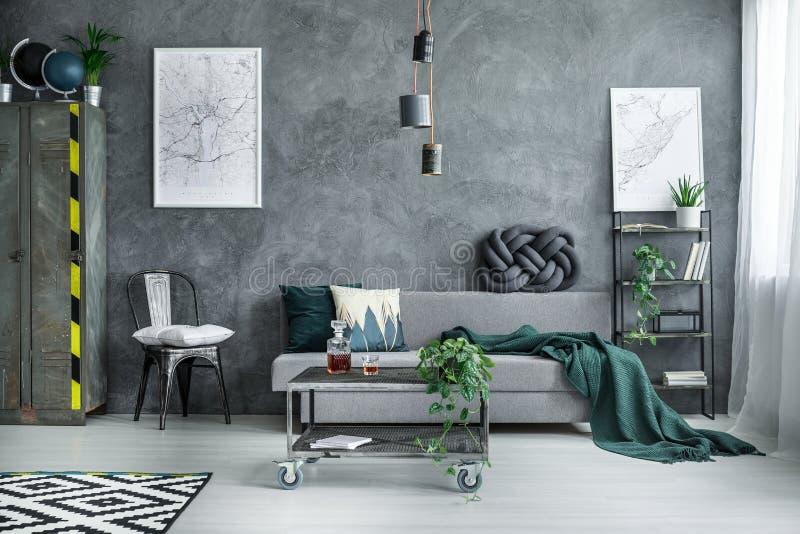 industrial living room furniture. Download Dark Industrial Living Room Stock Image - Of Space, Room: 104769519 Furniture H