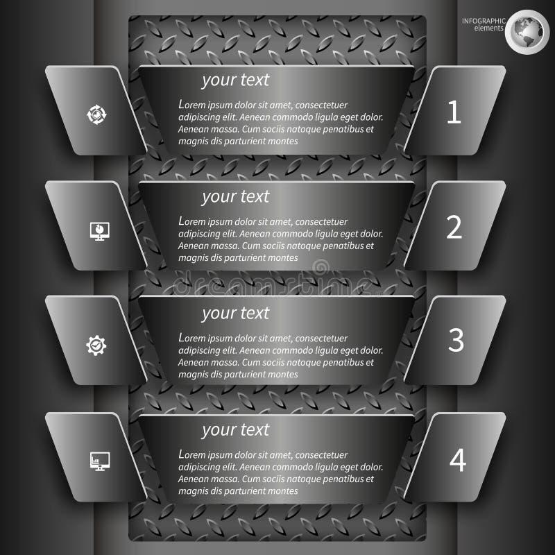 Dark infographics 2 stock illustration