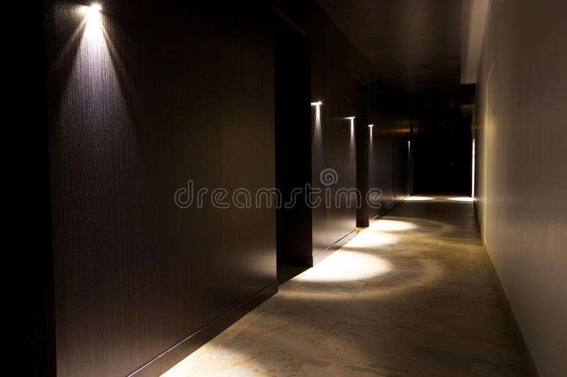 Dark interior with beautiful light royalty free stock images