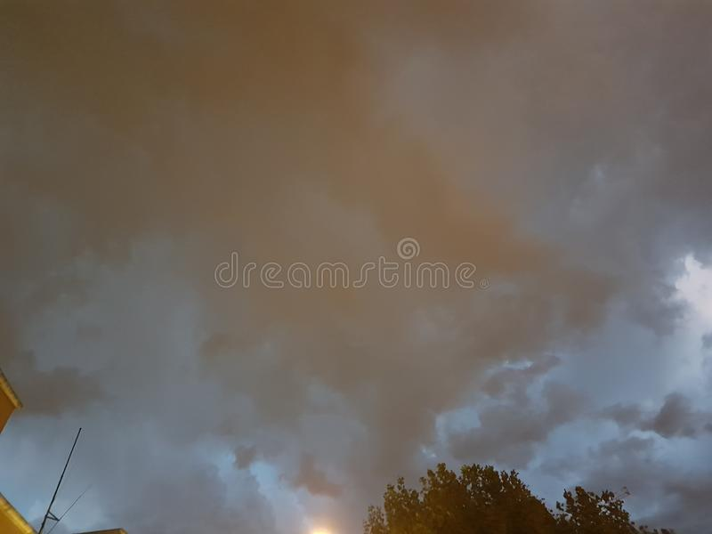 Dark italian sky stock photos