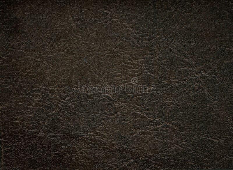 Dark leather texture stock photo